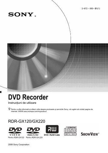 Sony RDR-GX220 - RDR-GX220 Istruzioni per l'uso Rumeno