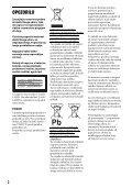 Sony DVP-FX980 - DVP-FX980 Istruzioni per l'uso Sloveno - Page 2