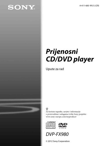 Sony DVP-FX980 - DVP-FX980 Istruzioni per l'uso Croato