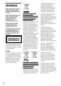 Sony DVP-FX980 - DVP-FX980 Istruzioni per l'uso Croato - Page 2