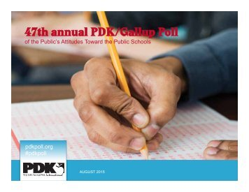 47th annual PDK/Gallup Poll