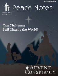 Peace Notes December 2015 - Word of Peace Lutheran Church