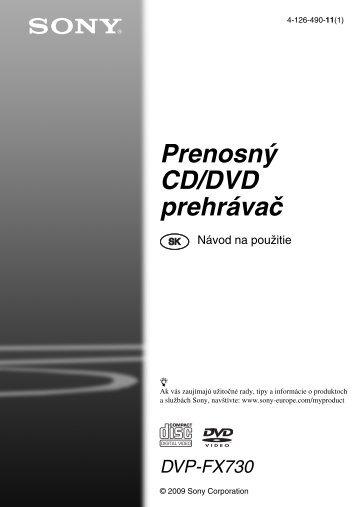 Sony DVP-FX730 - DVP-FX730 Istruzioni per l'uso Slovacco