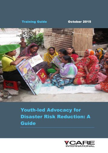 Youth-led Advocacy for Disaster Risk Reduction A Guide
