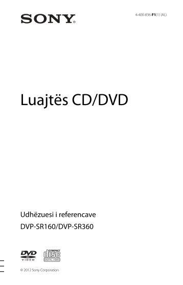 Sony DVP-SR160 - DVP-SR160 Istruzioni per l'uso Albanese