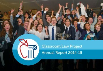 Classroom Law Project Annual Report 2014-15