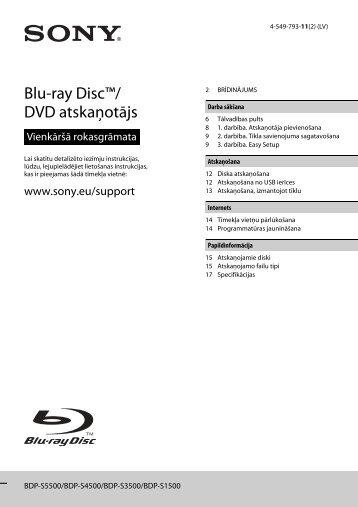 Sony BDP-S3500 - BDP-S3500 Simple Manual Lettone