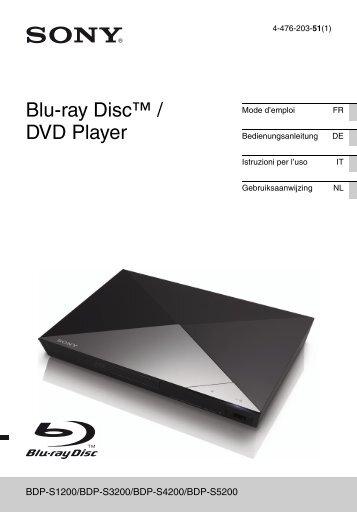 Sony BDP-S3200 - BDP-S3200 Istruzioni per l'uso Olandese