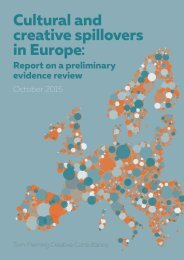 Cultural and creative spillovers in Europe