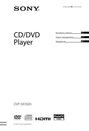 Sony DVP-SR760H - DVP-SR760H Guida di riferimento Lettone