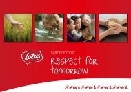 Respect for tomorrow