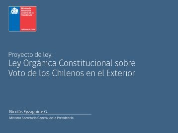 Ley Orgánica Constitucional sobre Voto de los Chilenos en el Exterior