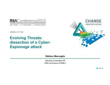 dissection of a Cyber- Espionage attack