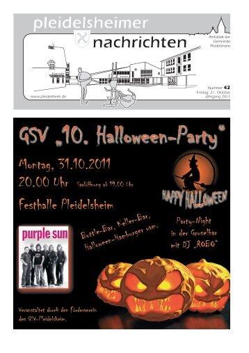 Mitteilungsblatt KW 42 - Gemeinde Pleidelsheim