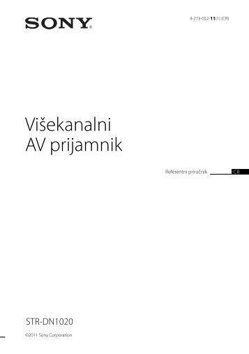 Sony STR-DN1020 - STR-DN1020 Guida di riferimento Croato