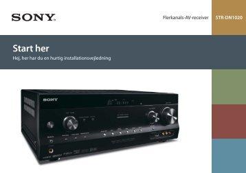 Sony STR-DN1020 - STR-DN1020 Guida di configurazione rapid Danese