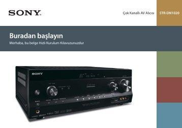 Sony STR-DN1020 - STR-DN1020 Guida di configurazione rapid Turco