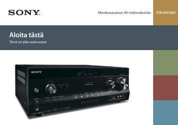 Sony STR-DN1020 - STR-DN1020 Guida di configurazione rapid Finlandese