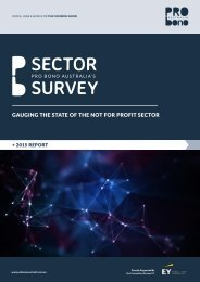 GAUGING THE STATE OF THE NOT FOR PROFIT SECTOR