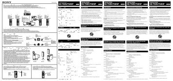 Sony SS-T505 - SS-T505 Istruzioni per l'uso Portoghese