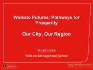 Waikato Futures: Pathways for Prosperity Our City, Our Region