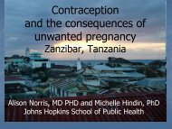 Contraception and the consequences of unwanted pregnancy ...