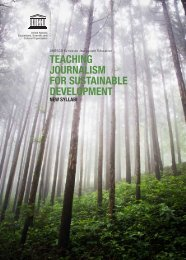 TEACHING JOURNALISM FOR SUSTAINABLE DEVELOPMENT