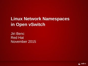 Linux Network Namespaces in Open vSwitch
