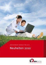 1. April 2010 - Alpha-InnoTec Schweiz AG