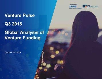 Venture Pulse Q3 2015 Global Analysis of Venture Funding
