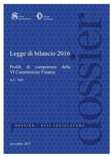 Legge di bilancio 2016