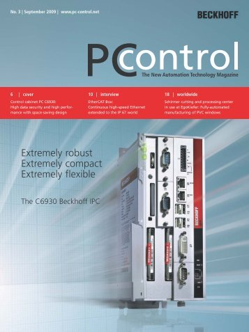 The C6930 Beckhoff IPC - PC-Control The New Automation ...