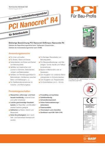 Hochfester Instandsetzungsmörtel PCI Nanocret ® R4