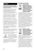 Sony STR-DN1040 - STR-DN1040 Guida di riferimento Inglese - Page 2
