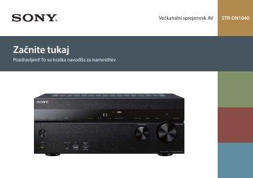 Sony STR-DN1040 - STR-DN1040 Guida di configurazione rapid Sloveno