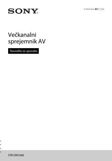 Sony STR-DN1040 - STR-DN1040 Istruzioni per l'uso Sloveno