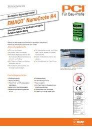 Hochfester Reparaturmörtel EMACO ® NanoCrete R4