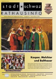 Rathausinfo Ausgabe Jänner 2009 - Schwaz