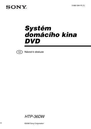 Sony HTP-36DW - HTP-36DW Istruzioni per l'uso Ceco