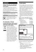 Sony HTP-36DW - HTP-36DW Istruzioni per l'uso Ceco - Page 4