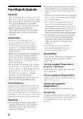 Sony HT-CT660 - HT-CT660 Istruzioni per l'uso Svedese - Page 4