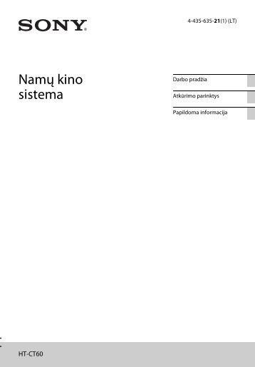 Sony HT-CT60 - HT-CT60 Istruzioni per l'uso Lituano