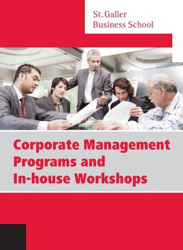 Corporate Management Programs and In-house Workshops