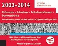 Referenzen – Interviews – Teilnehmerstimmen – Diplomarbeiten