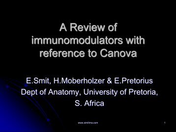 A Review of immunomodulators with reference to Canova - Similima