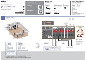 Sony STR-DH750 - STR-DH750 Guida di configurazione rapid Svedese