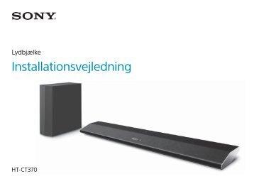 Sony HT-CT370 - HT-CT370 Guida di configurazione rapid Danese