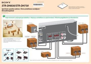 Sony STR-DH830 - STR-DH830 Guida di configurazione rapid Lituano