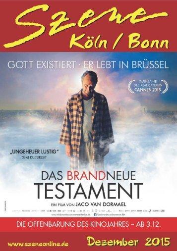 Szene Köln-Bonn, Ausgabe 12.2015