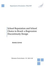 School Reputation and School Choice in Brazil a Regression Discontinuity Design